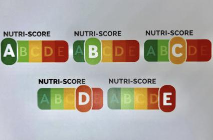 Modelo de etiquetado cinco colores Nutriscore